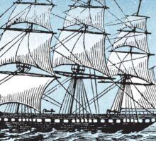 Vintage Sailboat Sketch Sticker