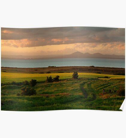 Corio Bay Sunset,Bellarine Peninsula Poster