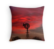 Windmills And Vampires Throw Pillow