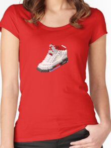 Air jordan V cube pixel Women's Fitted Scoop T-Shirt