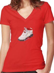 Air jordan V cube pixel Women's Fitted V-Neck T-Shirt