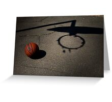Basketball Hoops Greeting Card