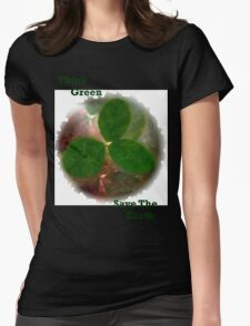 THINK GREEN Womens Fitted T-Shirt