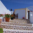 Santorini Steps by kelliejane