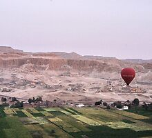 Hot Air Balloon over Valley of the Kings by kelliejane