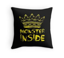 Monster Inside Throw Pillow