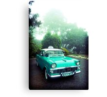 taxi in the fog Canvas Print