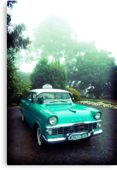 taxi in the fog by Greg Carrick