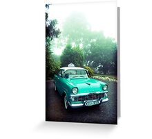 taxi in the fog Greeting Card