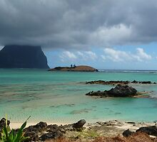 Lord Howe Island with low cloud by Mick Kupresanin