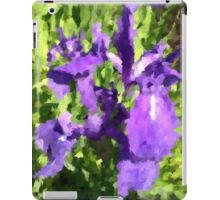 purple iris at a pond iPad Case/Skin