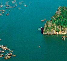 an inspiring Vietnam landscape Sticker