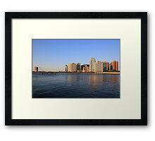 Lower Jersey City On The Hudson Rv. Framed Print