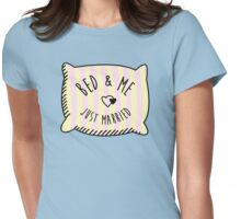 Bed & Me, Just Married Womens Fitted T-Shirt