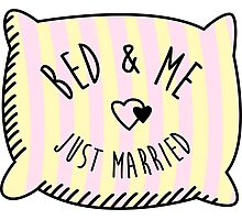 Bed & Me, Just Married Photographic Print