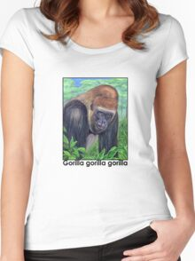 Western Lowland Gorilla (Gorilla gorilla gorilla) Women's Fitted Scoop T-Shirt