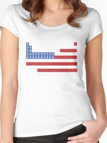 Patriotic Periodic Women's Fitted Scoop T-Shirt