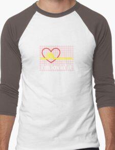 I'm lovin' that heart attack! Men's Baseball ¾ T-Shirt