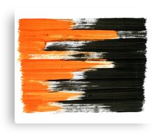 black and orange 01 Canvas Print