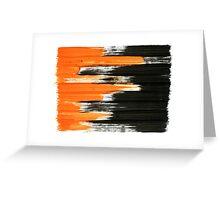 black and orange 01 Greeting Card