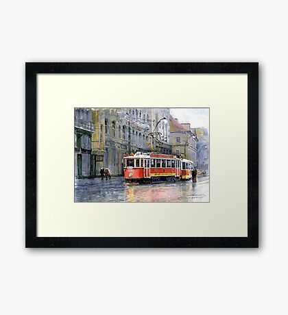 Prague Historical Tram Framed Print