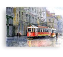 Prague Historical Tram Metal Print