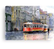 Prague Historical Tram Canvas Print