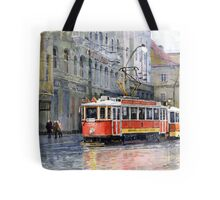 Prague Historical Tram Tote Bag