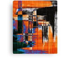 black blue and orange Canvas Print