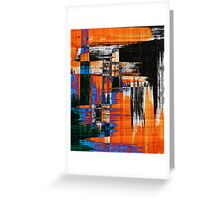 black blue and orange Greeting Card