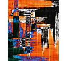 black blue and orange Photographic Print