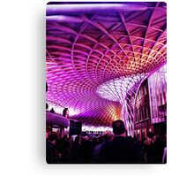 King's Cross Station at rush hour Canvas Print