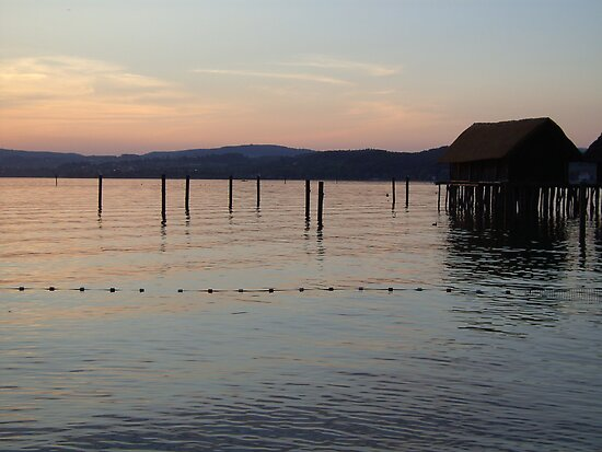 sunset in Unteruhldingen, Lake Constance by ©The Creative  Minds