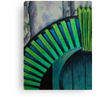 Drain Vent - Oil Pastel Canvas Print