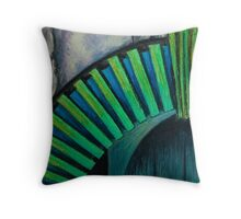 Drain Vent - Oil Pastel Throw Pillow