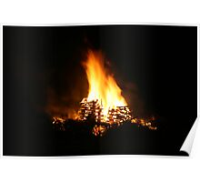 Colourful Talyllyn Bonfire Poster