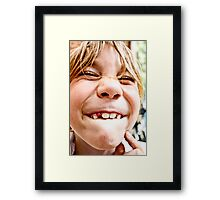 lost tooth Framed Print