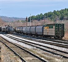"""Departing Freight Train"" - Palmer Series - © 2009 by Jack McCabe"