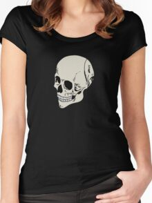 Human Skull Women's Fitted Scoop T-Shirt