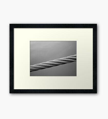 Floating Bridge 2 Framed Print