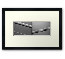 Floating Bridge (diptych 1/2) Framed Print