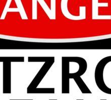 DANGER FITZROY FAN FAKE FUNNY SAFETY SIGN SIGNAGE Sticker