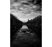 Amsterdam Canal 4 Black and White Photographic Print