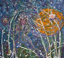 Winter Solstice 2008 acrylic on canvas 24x24 by eoconnor