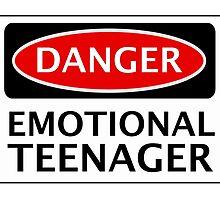 DANGER EMOTIONAL TEENAGER FAKE FUNNY SAFETY SIGN SIGNAGE by DangerSigns