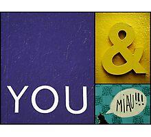 You & Miau Photographic Print