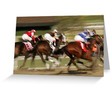 Field of Racing Thoroughbreds Greeting Card