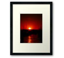 Light searching Light Framed Print