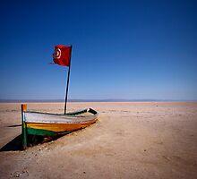 Stranded boat by Šime Basioli