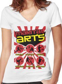 Marital Arts Women's Fitted V-Neck T-Shirt